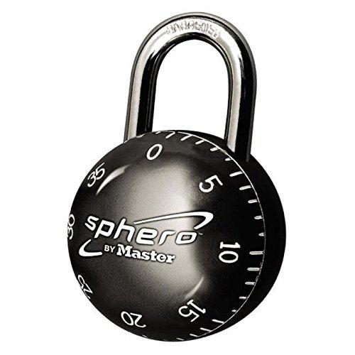 Master Lock 2075DAST Sphero Combination Lock, Light Blue, Red, Purple, Blue,or Black 1-Pack (Purple Master Lock)