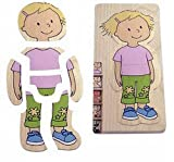 Hape – Your Body – Girl 5-Layer Wooden Puzzle, Baby & Kids Zone