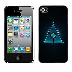 Be Good Phone Accessory // Dura Cáscara cubierta Protectora Caso Carcasa Funda de Protección para Apple Iphone 4 / 4S // Triangle Design