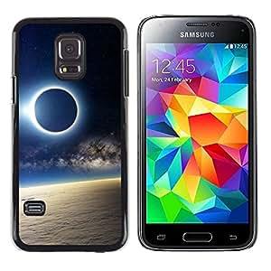 // PHONE CASE GIFT // Duro Estuche protector PC Cáscara Plástico Carcasa Funda Hard Protective Case for Samsung Galaxy S5 Mini, SM-G800 / Solar Eclipse de Luna /