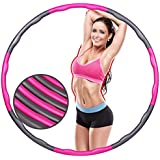 Fitness Exercise Hula Hoop 2 Pound Weighted Hula Hoop Perfect for Dancing Hot Fitness Workouts and Simply the Funnest Way to Lose Weight Easy to Use Exercise Hoop Fun Easy Way to Workout