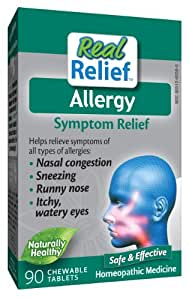 Homeolab USA Allergy Relief Tablets, 90 Chewable Tablets