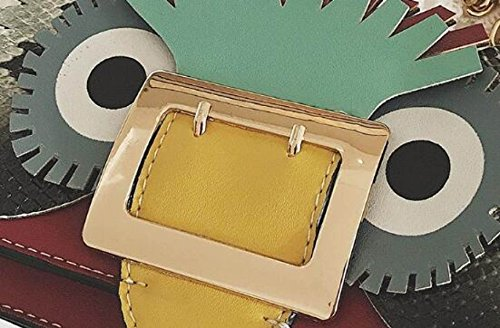 Fabelhaft Art- Und Weisekarikatur-kleiner Quadratischer Beutel-Schlag-Farben-nähende Ketten-Schulter-Beutel