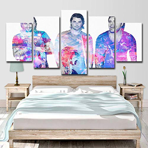 SCLWFJ Wulian Painting Wall Art Swedish House Mafia Painting Room Decoration on Canvas