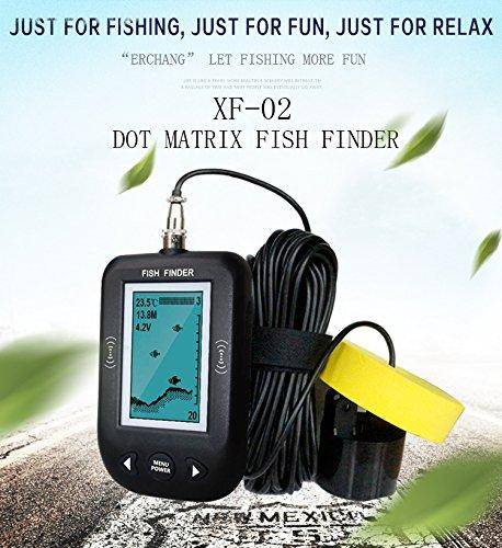 魚探 スマホ 魚群検出 ポータブル 軽量小型 超音波式 ソラー測定 携帯型 B073VJ6ZNY