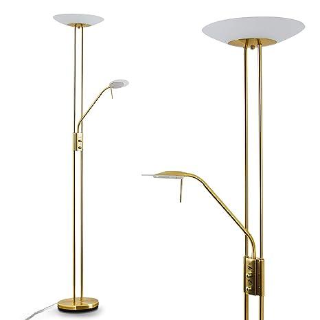 LED Lámpara de pie OLMINI - 1x 18W y 1x 5W - 2700 Lumens ...