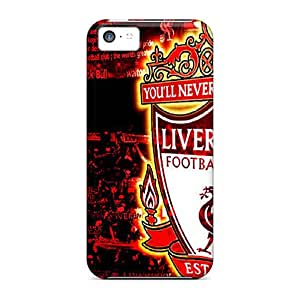Protector Hard Cell-phone Case For Iphone 5c (uTs20185NlIY) Support Personal Customs Vivid Liverpool Skin