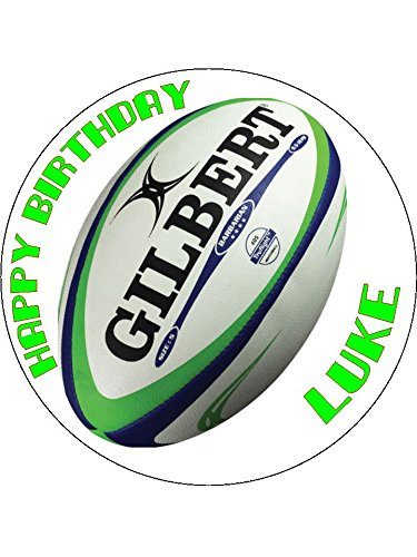 75 Rugby Ball Edible Icing Birthday Cake Topper Amazoncouk Toys Games