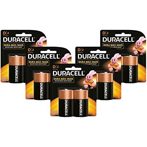 Kit com 10 Pilhas Duracell Duralock Alcalina D