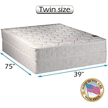 american legacy innerspring coil twin size mattress and box spring set