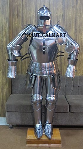 NauticalMart Medieval Milanese Full Suit of Armour Wearable