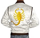 Drive Slimfit White Quilted Drive Satin Jacket For Men (M) [FB-DRIV-WH-M]