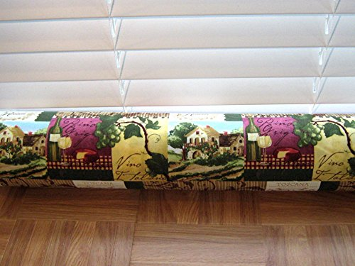 Door Draft Stopper Fabric Only Medium Weight Cotton Fabric Multi Colored Wine Custom Made 24