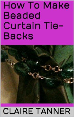 How To Make Beaded Curtain Tie-Backs (Beading Curtain)
