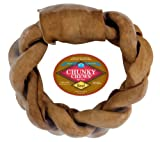 Chunky Chews® 8″ Beef Braided Rawhide Ring for Large Dogs, My Pet Supplies