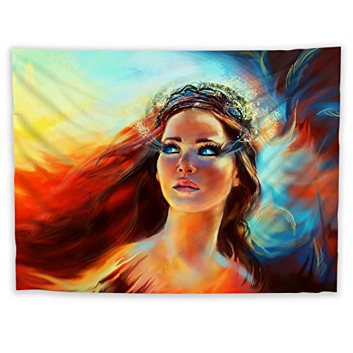 JackGo7 Hunger Games Tapestry Art Wall Hanging Sofa Table Bed Cover Mural Beach Blanket Home Dorm Room Decor Gift (60X45inch/150x113cm)