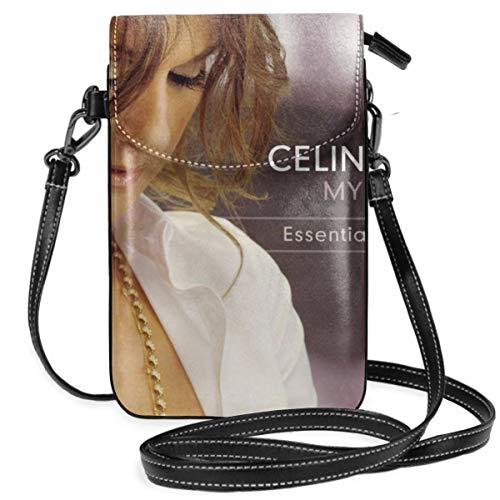 - HuiXieJian Celine Dion My Love Lightweight Small Crossbody Bags Cell Phone Purses Wallet for Women Black