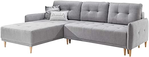 Amazon.com: Palma Sleeper Sectional, Left Corner (Light Grey ...