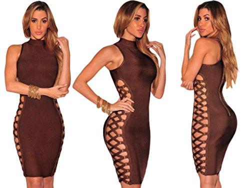 tipo Bandage Lover Bandas Dear S elasticas famosas tela TALLA faja Vestido UOqw0