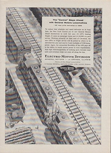 Gp9 Diesel Locomotive - New York Central steps ahead with GM EMD GP9 diesel locomotive ad 1946