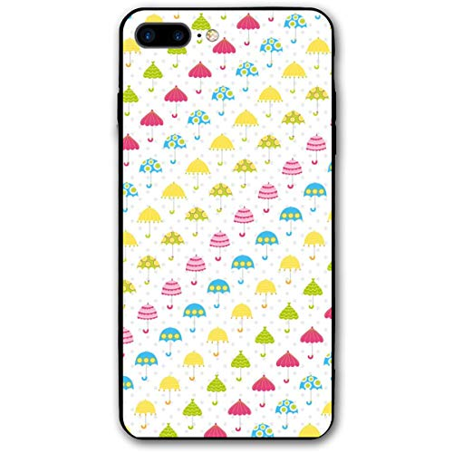 Xianjing iPhone 7 Plus Case/iPhone 8 Plus Case Umbrella Cute Cartoon Anti-Scratch PC Rubber Cover Lightweight Slim Printed Protective Case