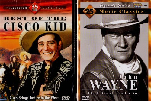 John Wayne: The Ultimate Collection: 25 Movie Classics (Legends Series), Best of the Cisco Kid (35 Episodes) - Western Classics Mega Set - 7 Disc Set - 2520 Minutes - Value Pack by