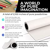 White Kraft Arts and Crafts Paper Roll - 18 inches