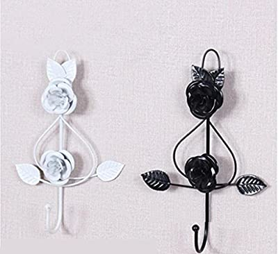 WWZY European style Iron Hook up Creative Rose shape Clothing store Wall hanging single hook (pack of 3)