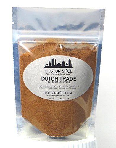Boston Spice Dutch Trade Speculaas Speculoos Baking Seasoning Mix Blend For Cookies Cakes Pancakes Ice Cream Windmill Cookies Dessert and More (Approx. 1/2 Cup of ()