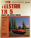 Ford Telstar TX5 1983. Gregory's Service and Repair Manual No. 215.