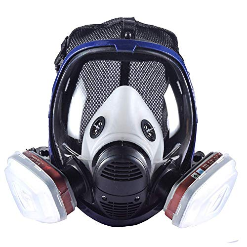 Phoenixfly99 Organic Vapor Full Face Respirator Safety Mask With Visor Protection For Paint, chemicals, polish (6800 Full face respirator+1 Pair 3# Filter) by Phoenixfly99 (Image #1)