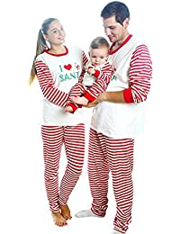 Matching Christmas Pajamas For Family With Baby, Stripes Sleepwear