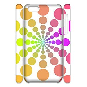 Customized Phone Case with Hard Shell Protection for Iphone 5C 3D case with Geometric background lxa#230346