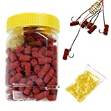 300pcs in 1 Bottle Grass Carp Red Baits Fishing Lures Fishing Baits