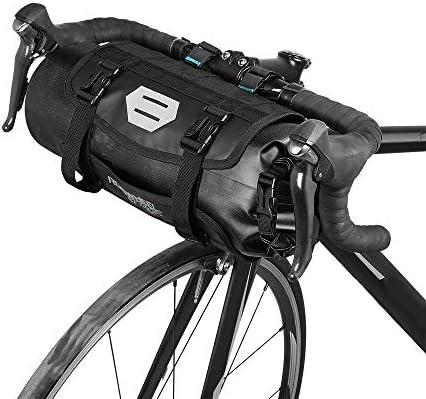 Lixada Bicicleta Bolso Impermeable Ciclismo Mountain Road MTB Bicicleta Delantero Marco Manillar Maleta Seca con Cierre (Negro): Amazon.es: Deportes y aire libre