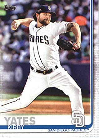 ec2be4a5c34 Amazon.com  2019 Topps Baseball  347 Kirby Yates San Diego Padres   Collectibles   Fine Art