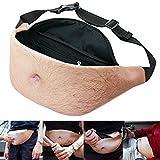 Dad Bag Bod Fanny Pack Fake Belly Men Hairy Beer Waist Pack Secret Zipper Pocket With Adjustable Belt Hilarious Gag Gift