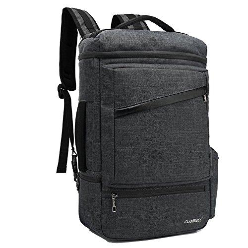 bigforest Business Laptop Rucksäcke Fall Reisetasche mit USB Lade-Port passt für bis zu 39,6cm Computer Aktentasche Handtasche Grey 1 Einheitsgröße schwarz 2