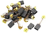 Uxcell Electric Drill Motor Carbon Brushes, 16mmx13mmx7mm, 20Pcs, Black