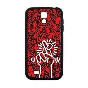Canting_Good DIY New Keith Haring Red Case Cover for SamSung Galaxy S4 I9500 (Laser Technology)