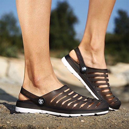 Buco scarpa Uomini sandali estate traspirante sandali Uomini Tempo libero scarpa quotidiano Tempo libero sandali alunno Spiaggia scarpa Uomini ,nero,US=10,UK=9.5,EU=44,CN=46