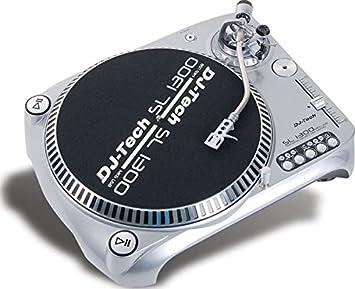 Lovely Dj Tech SL1300MK6USB SIL Direct Drive DJ Turntable, Silver