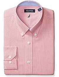 Nautica Men's Mini Check Buttondown Collar Dress Shirt