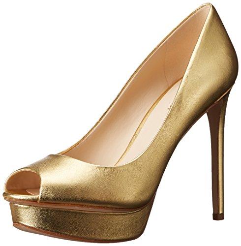 Nine West mujer Edlyn metálico vestido Bomba dorado metálico