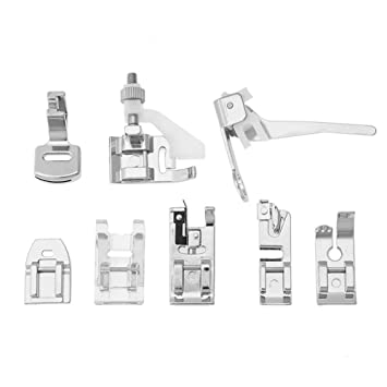 Prensatelas Accesorios para Máquina de coser Matefielduk 8pcs máquina de coser doméstica puntada zurcido pie prensatelas