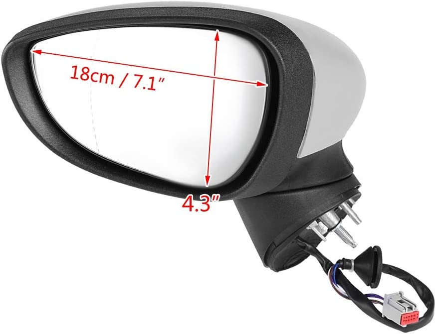 Left Driver Side Automotive Electric Complete Wing Door Mirror for 2008-2012 Ford Fiesta MK7
