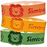 Simba Baby/Kids Natural Mosquito Repellent Bracelet-Natural Citronella and Lemon Extract/ No DEET, Extra Safe!