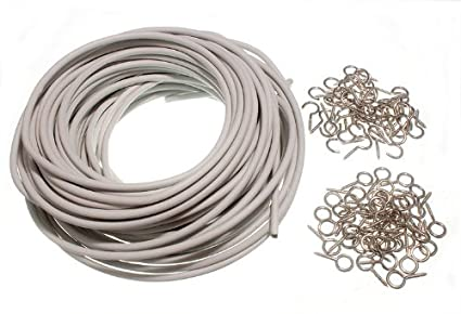Amazon.com: CURTAIN NET EXPANDING WIRE WHITE 30 METRE ( 30M ) WITH ...
