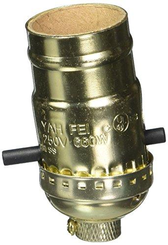 Light Through Sockets Push - Westinghouse 7041000 Lighting Push Through Socket with Set Screw, Brass