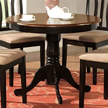 Charmant Amazon.com   Wooden Imports AD01 T BLu0026CH Antique Table 36 In. Round   Black  And Cherry   Tables